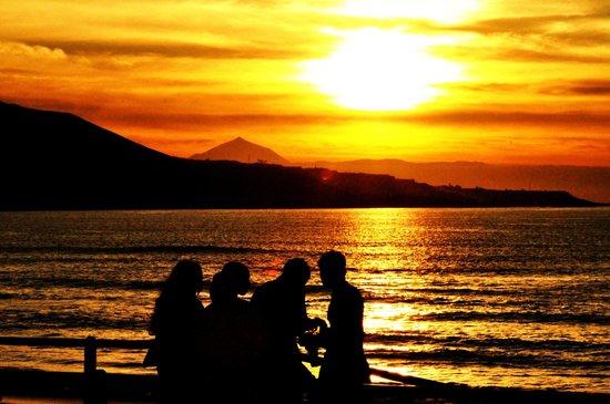Playa de Las Canteras: Un tramonto affascinate a las canters