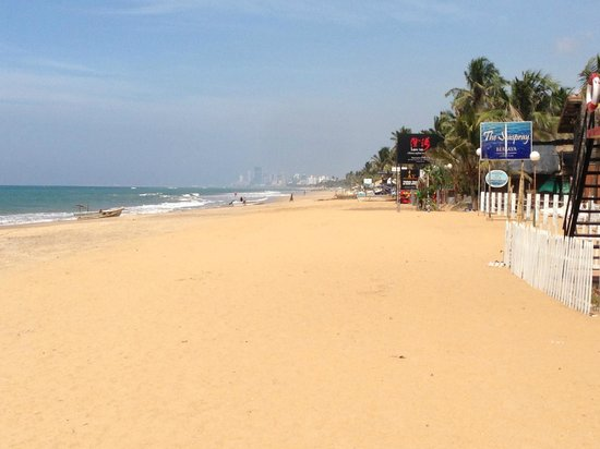 Mount Lavinia Beach: view to Colombo