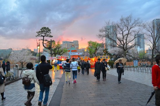 Ueno Park: After the shrine, we walked towards the smell of good food