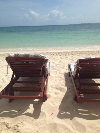 Beloved Playa Mujeres: View from our private beach cabana #3 ( reserve before arrival)