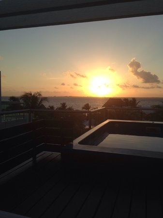 Beloved Playa Mujeres: Coffee and a sunrise from the 2 story casita