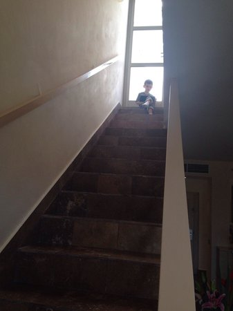 Beloved Playa Mujeres: Staircase to roof , not a great choice for kids under 5