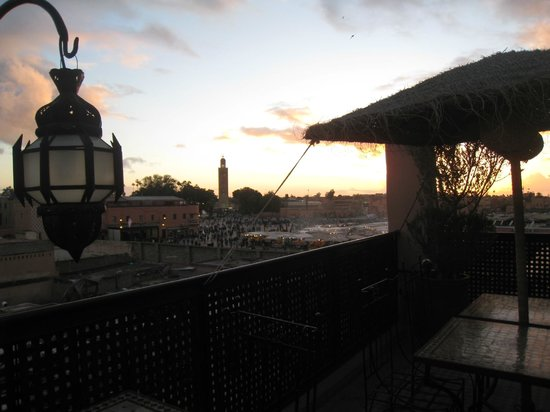 Riad Andalla : vue depuis la terrasse