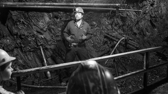 Britannia Mine Museum: Top notch guide demonstrating various drilling machines. This can make little kids a bit scared.