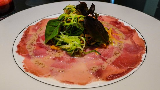 Park Hyatt Zurich: Dinner served in our Park Room incl. Veal Carpaccio