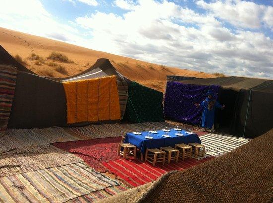 Hassilabied, Marocco: camel bivouac merzouga