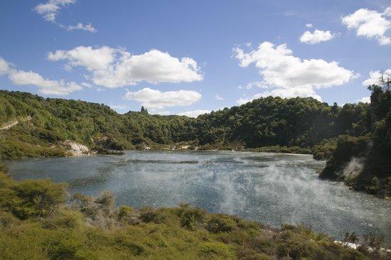 Waimangu Volcanic Valley: The frying pan lake
