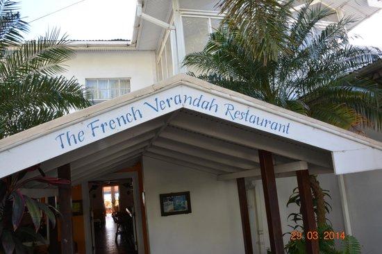 The French Verandah Restaurant: entrata