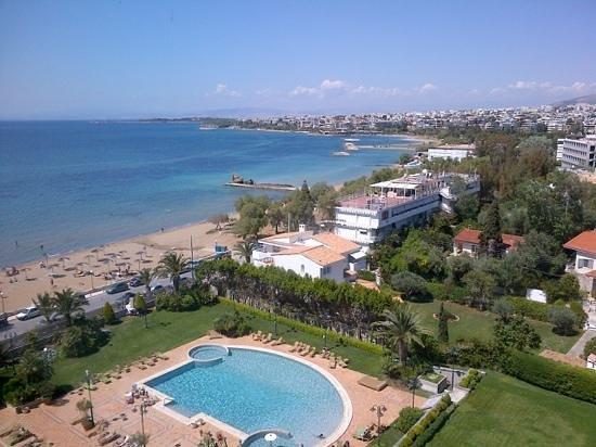 Divani Apollon Palace & Thalasso: uitzicht vanaf mijn balcon, prachtig!