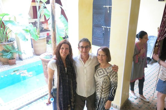 Riad Aguaviva: With our host, David