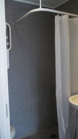 Ibis Budget Auckland Central: shower that's with the sink & toliet