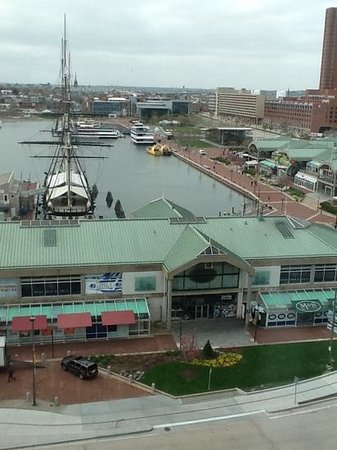 Renaissance Baltimore Harborplace Hotel: ask for a harbor view - here's the view from our room. Worth the $40 extra.