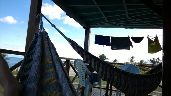 Colibri House: relaxing in the hammocks