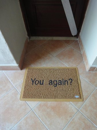 Dreams Palm Beach Punta Cana : lovely touch ....our own door mat