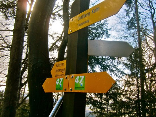 Uetliberg Mountain : sign posts for hiking trails