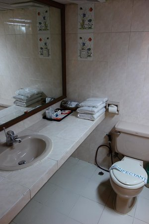 Central Hotel Yangon : Bathroom