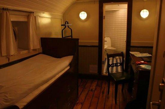 STF af Chapman & Skeppsholmen Hostel: спальня капитанской каюты