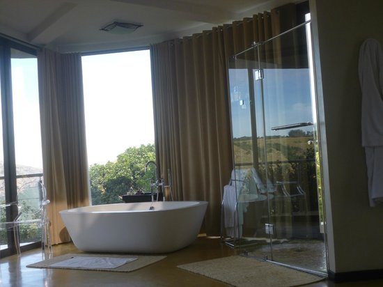 The Gorge Private Game Lodge & Spa : The indoor shower