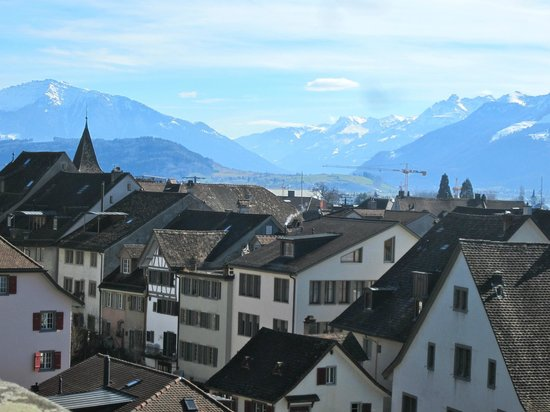 Schloss Rapperswil: View from Monastary