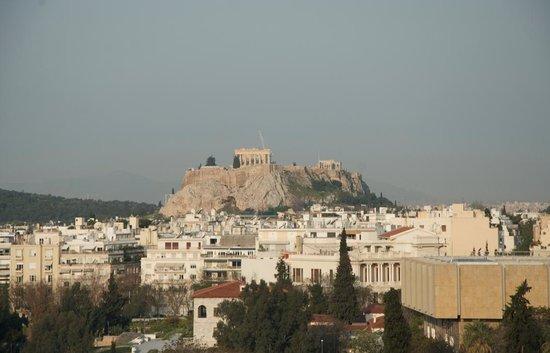 Hilton Athens: Vista con zoom ( mucho aumento )