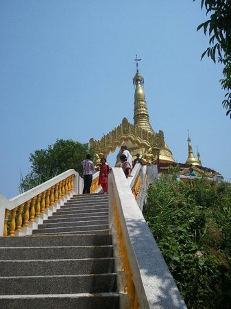 Stair ways to Buddha Dhatu Jadi or the Golden Temple