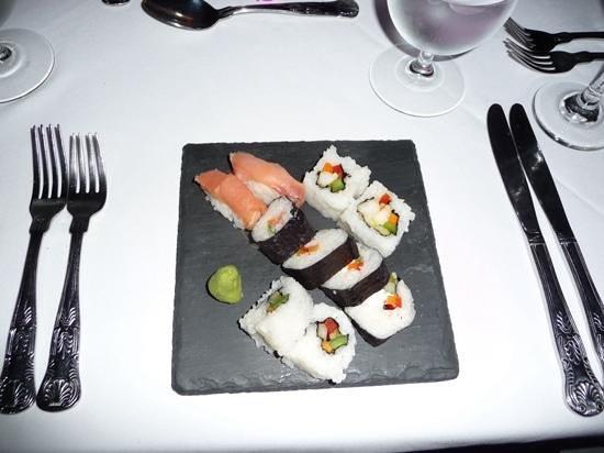 Sandals Royal Plantation: Special sushi dinner