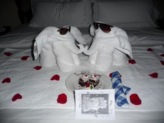 Sandals Royal Plantation: Towel art