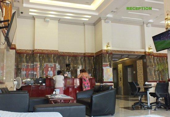 Hotel Grand United (Ahlone Branch) : reception de l hotel