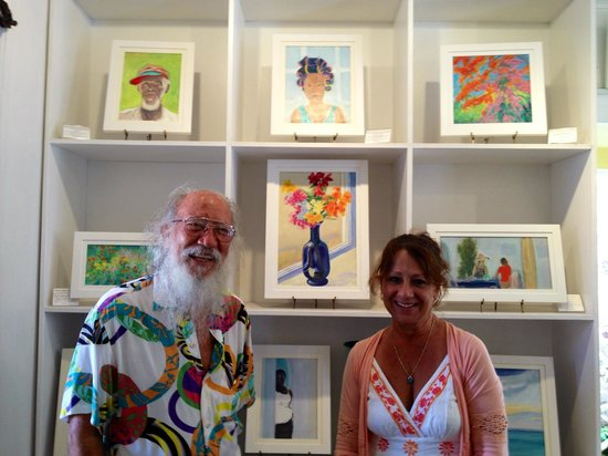Roland Richardson Art Gallery: Roland and Laura with our first treasure!