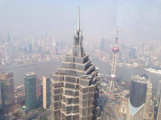 Park Hyatt Shanghai: 朝食ブュッフェの会場からの景色