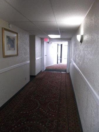 Quality Inn: Espace corridor.