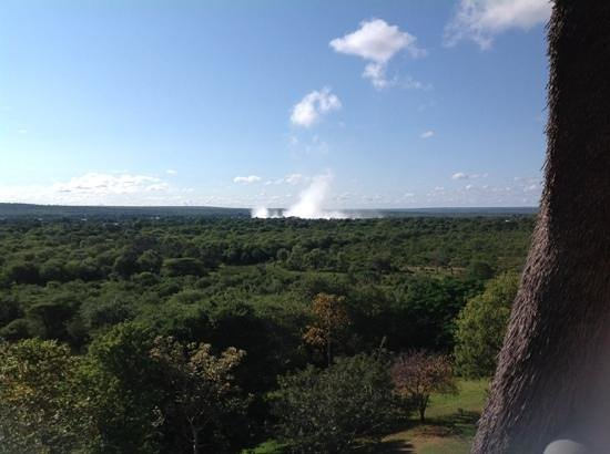 Elephant Hills Resort : View from the balcony - the Falls spray is in the background. U can hear the rumble at night - g