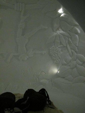 Iglu-Dorf Zugspitze: Wanddekoration