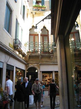 Hotel Torino: The street corner