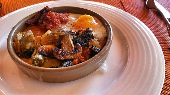 Bon Profit : Cazuela de huevo con sobrasada y verduras