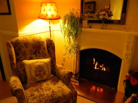 Headlands Inn Bed & Breakfast : Stofle room fireplace