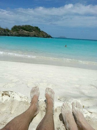 Enjoying beach at Trunk Bay on St. John VI