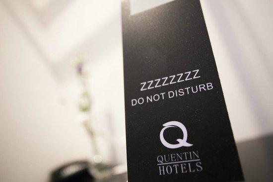 Quentin Amsterdam Hotel : do NOT disturb