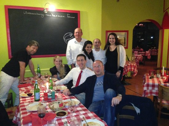 Peperoncino: Our group with the chef