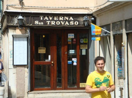 Taverna San Trovaso : The entrance to this wonderful restaurant