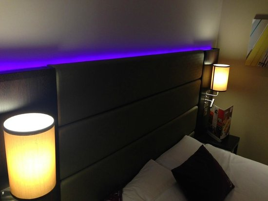 Premier Inn Bedford South (A421) Hotel: The bed mood lighting.  I'm sure it switches off somewhere...