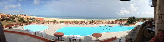 Royal Decameron Boa Vista: View of the pool & beach from the buffet restuarant