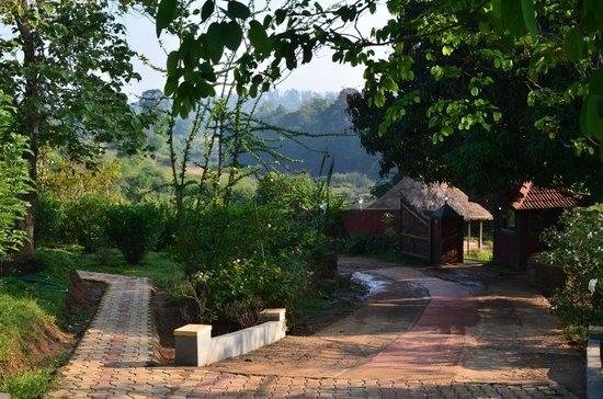 Ayurveda Yoga Villa: Entrance and walk to Herbal cottages