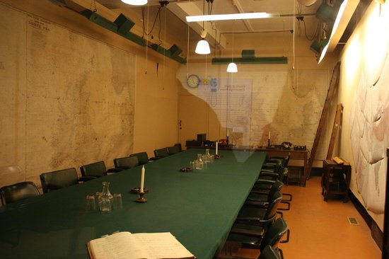 Churchill War Rooms: The Map Room