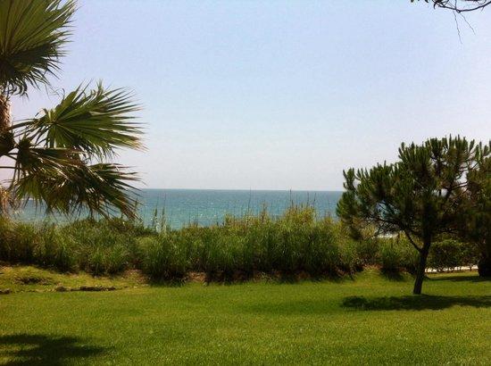 Aussicht vom Garten. Gut abgetrennt vom Strand - Picture of Vila ...