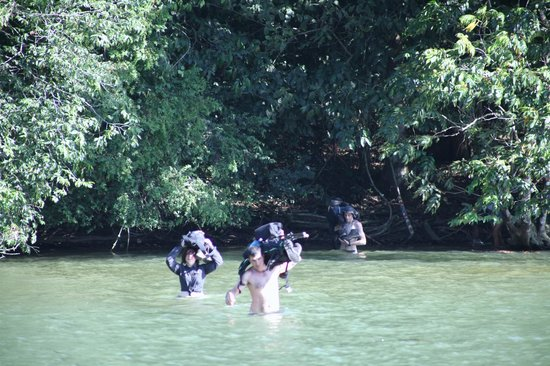 Corcovado National Park : River Crossing on the way to Sirena- Corcovado