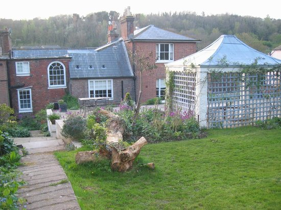 The garden behind the Old Rectory