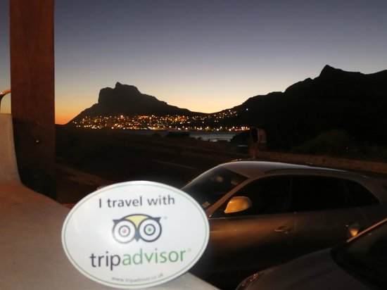Chapmans Peak Hotel Restaurant: The view from the stoep.