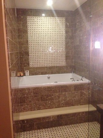 Kimpton Hotel Monaco Baltimore Inner Harbor : Jacuzzi Bath & shower...