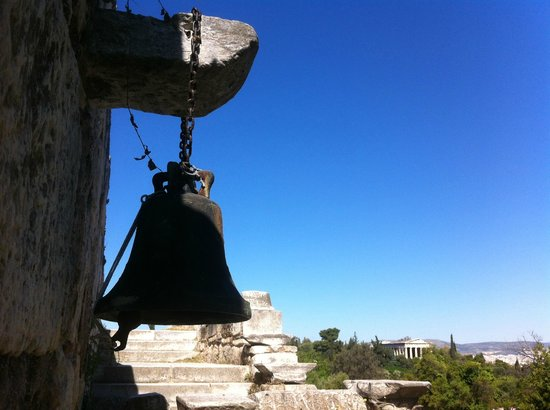 Bell of the orthodox church in Agora site